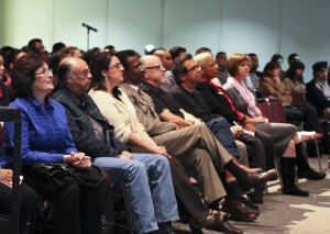CSUN faculty and students attend to Vargas' words. Karla Henry/EL NUEVO SOL