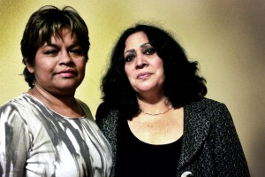 Cipriana Jurado Herrera (left) and Marisela Ortiz (right) are both human rights activists from Ciudad Juárez who had to flee after receiving death threats for their work around femicides, police and military repression and corruption.