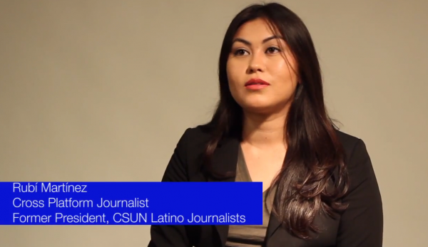 Rubí Martínez, CSUN journalism graduate and former president of CSUN Latino Journalists.
